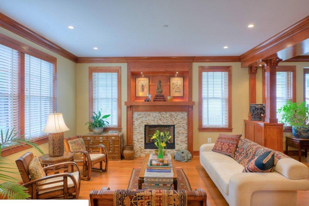 Landis Architects Washington DC Craftsman Home Oak Trim Paint Colors