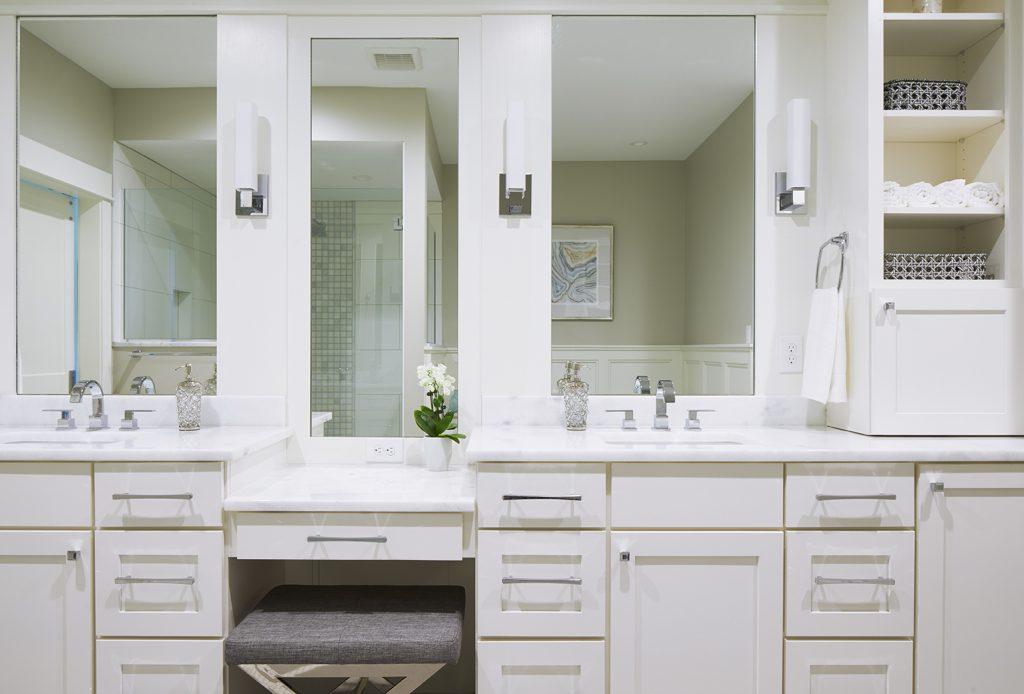 interior designer des moines K and V Home Show Expo House 2018 Master Bathroom Vanity
