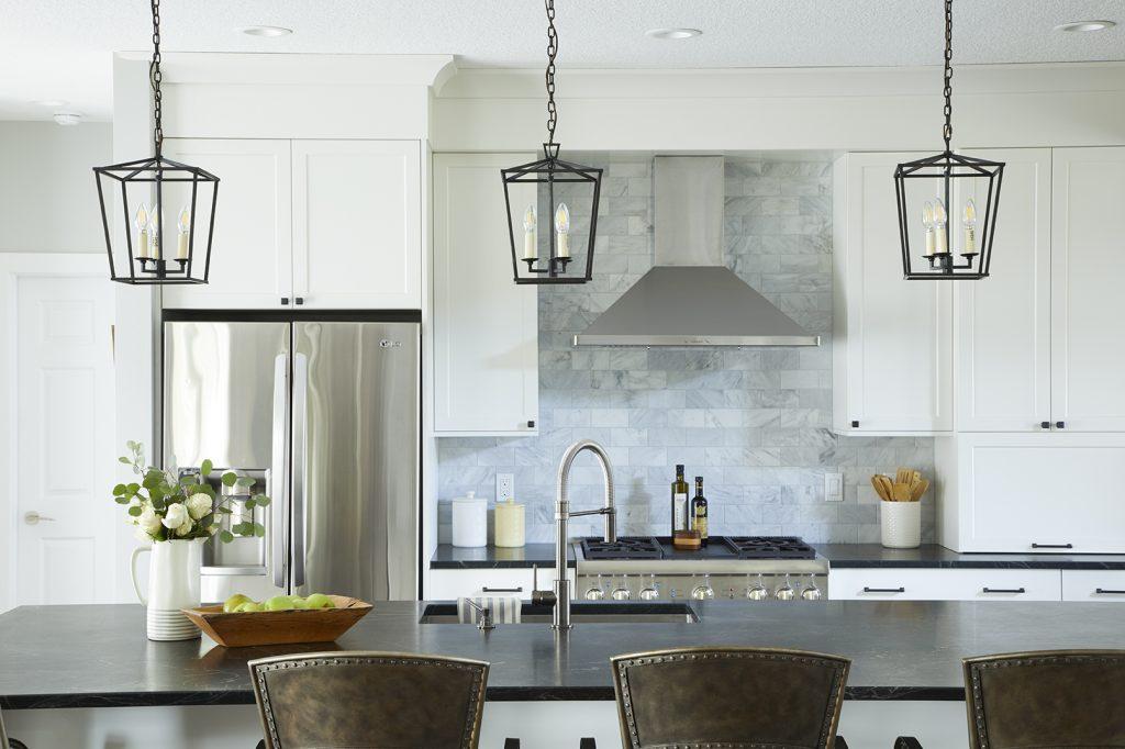 Jillian Lare Interior Design - Grimes Iowa Kitchen Remodel White Farmhouse Kitchen