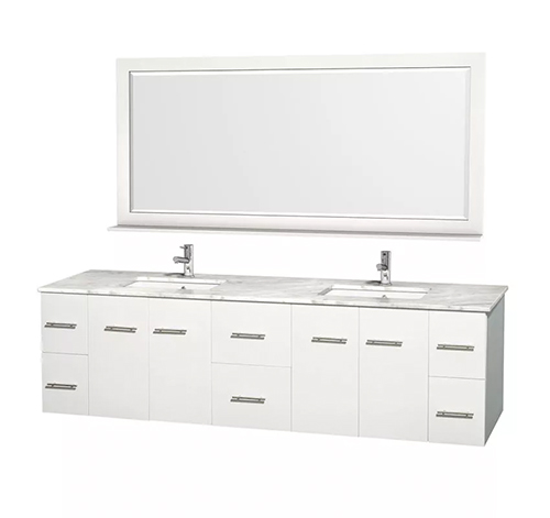 Floating Vanity Aging in Place Bathroom Remodel