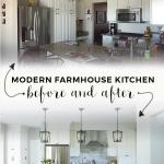 Modern Farmhouse Kitchen Makeover by Jillian Lare Interior Design Des Moines Iowa Interior Designer