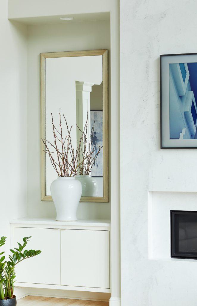 Modern fireplace makeover by Jillian Lare Des Moines Interior Designer
