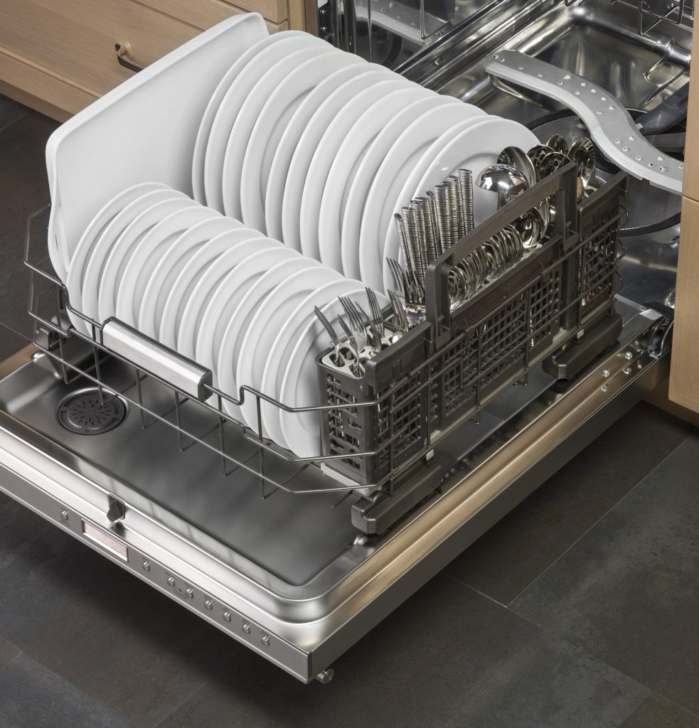 GE Monogram Dishwasher Interior