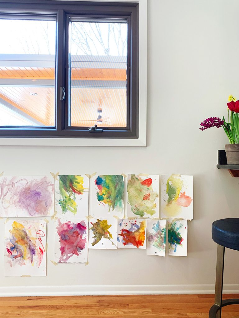 abstract watercolor painting by a toddler