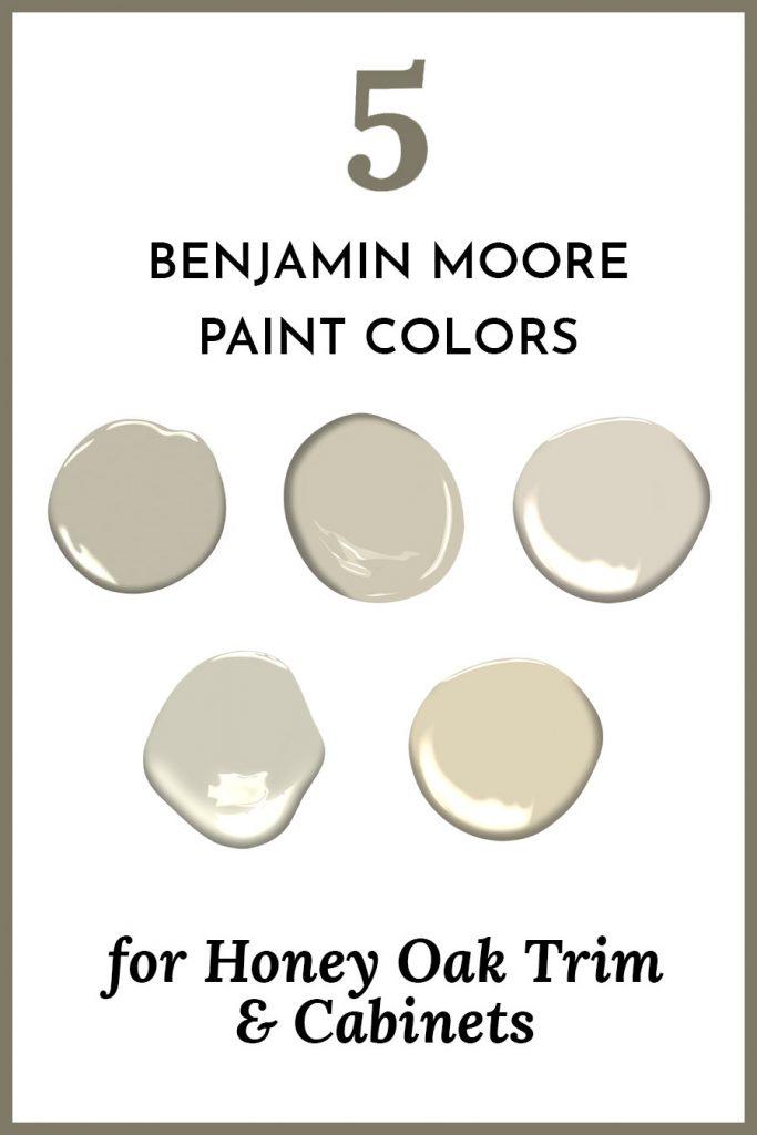 Five Benjamin Moore Paint Colors For Honey Oak Trim Cabinets