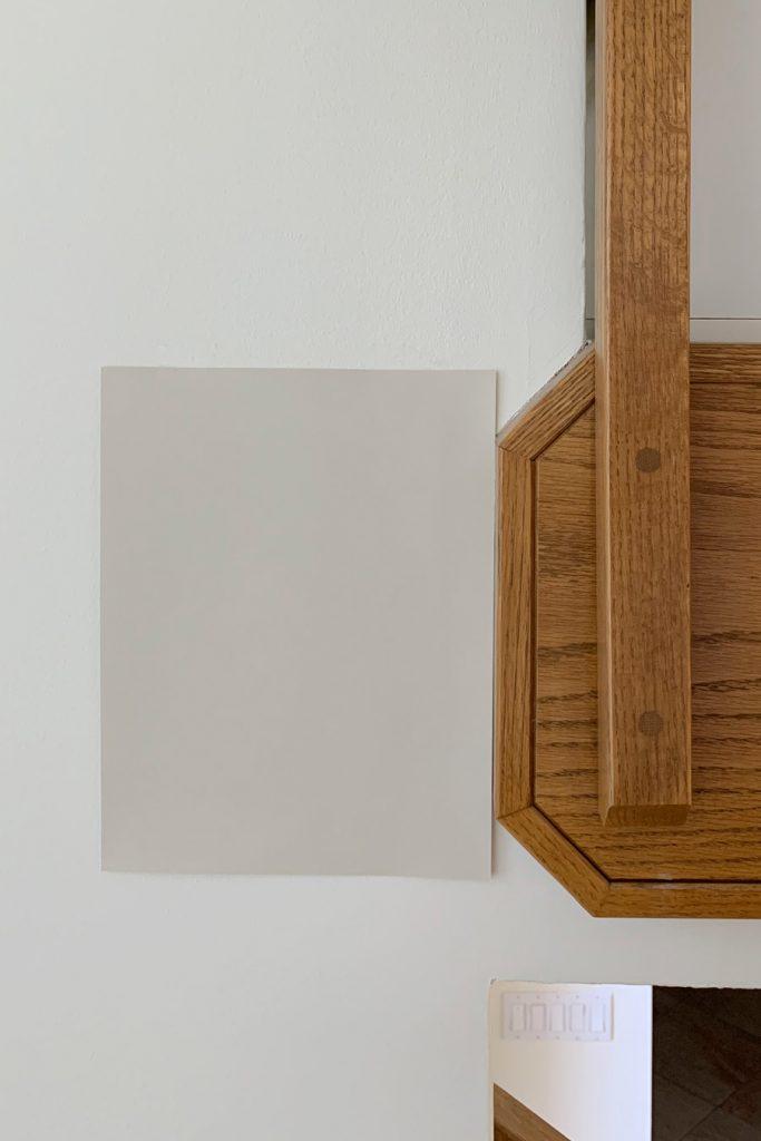 Sherwin-Williams Grecian Ivory SW 7541 Light Beige Paint Colors Honey Oak Trim