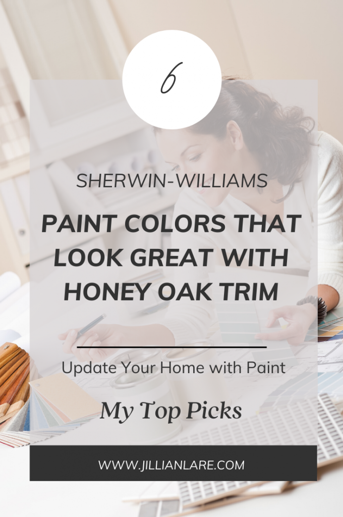 sherwin-williams paint colors for honey oak trim