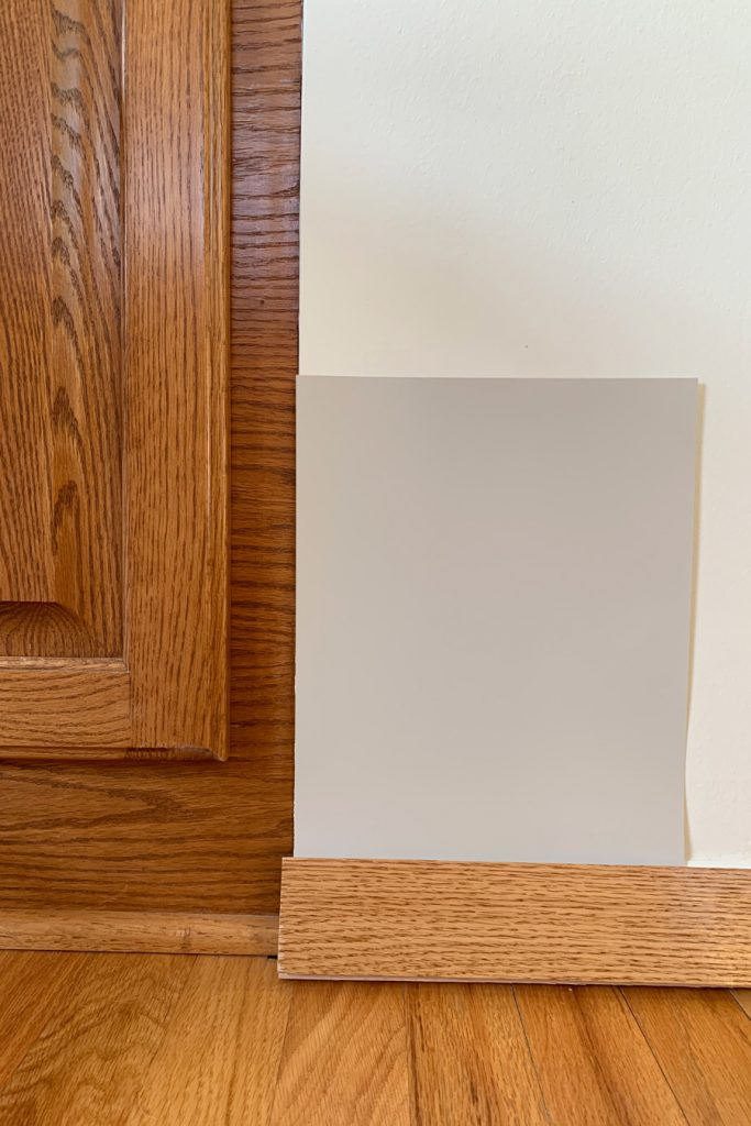 Sherwin-Williams Skyline Steel SW 1015 with Honey Oak