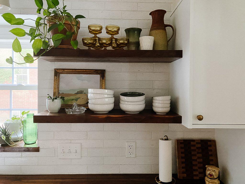 IKEA Kitchen Semihandmade Open Shelves